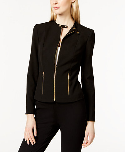Calvin Klein Band Collar Moto Jacket