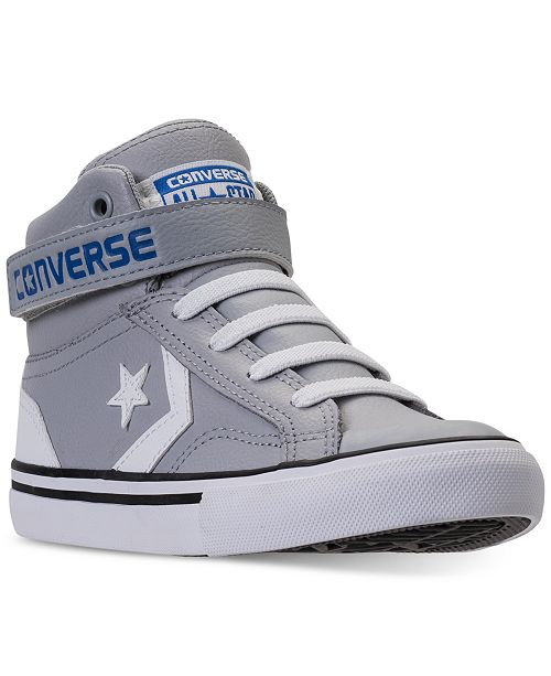 f3c21a060eb8 ... Converse Little Boys  Pro Blaze Strap High Top Casual Sneakers from  Finish ...