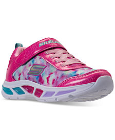 Skechers Little Girls'  Preschool S Lights: Litebeams Athletic Sneakers from Finish Line