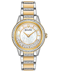 Bulova Women's Dress Two-Tone Stainless Steel Bracelet Watch 32.5mm