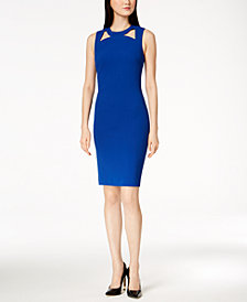 Calvin Klein Cutout Scuba Crepe Sheath Dress