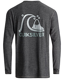 Quiksilver Men's Amphibian Heritage Heathered Long-Sleeve Rash Guard
