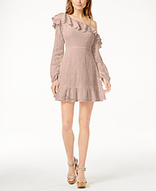 ASTR The Label  Whitney Ruffled One-Shoulder Dress