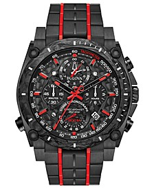 Men's Chronograph Precisionist Champlain Black & Red Stainless Steel Bracelet Watch 48.5mm