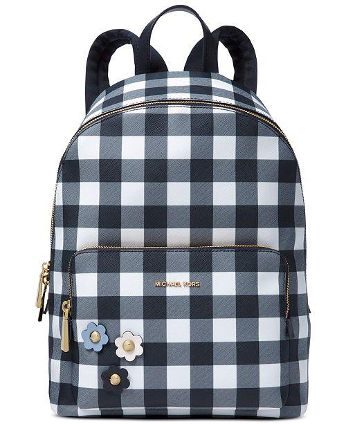 0e9fccdda47f ... Michael Kors Gingham Large Backpack