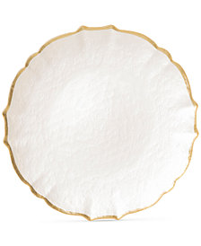 Vietri Pastel Glass Collection White Service Plate/Charger