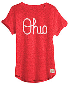 Retro Brand Ohio State Buckeyes Rolled Sleeve T-Shirt, Big Girls
