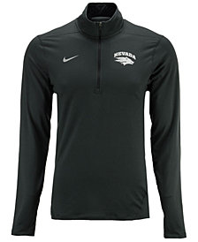 Nike Men's Nevada Wolf Pack Heather Dri-FIT Element Quarter-Zip Pullover