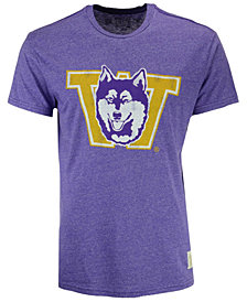 Retro Brand Men's Washington Huskies Retro Mock Twist Team Logo T-Shirt
