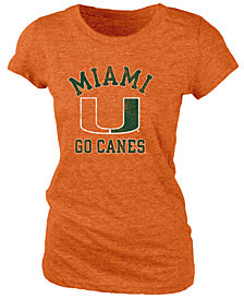 Blue 84 Women's Miami Hurricanes Tri-Blend Distressed T-Shirt