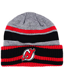 adidas New Jersey Devils Heathered Grey Beanie