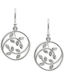 Giani Bernini Openwork Leaf Disc Drop Earrings in Sterling Silver, Created for Macy's