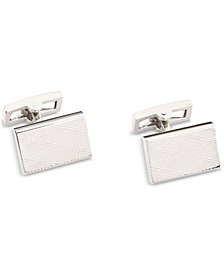 Ryan Seacrest Distinction™ Men's Plaid-Textured Cuff Links, Created for Macy's