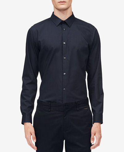 Calvin Klein Men's Infinite Diamond-Print Shirt