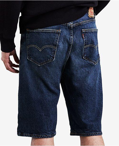 65d82b1d Levi's Men's Big & Tall 569™ Loose Fit Denim Shorts & Reviews ...
