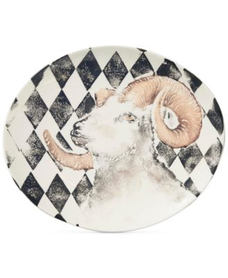 Into the Woods Collection Ram Oval Platter