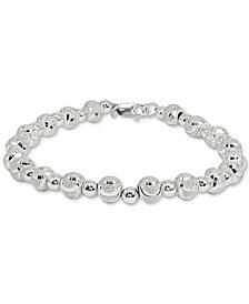 Giani Bernini Beaded Link Bracelet in Sterling Silver, Created for Macy's
