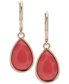 Nine West Colored Stone Drop Earrings