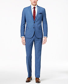 Nick Graham Men's Slim-Fit Stretch New Blue Solid Suit