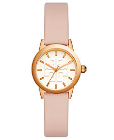 Tory Burch Women's Gigi Blush Pink Leather Strap Watch 28mm