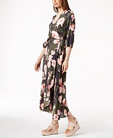 Printed Maxi Wrap Dress, Created for Macy's