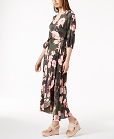 Bar III Printed Maxi Wrap Dress, Created for Macy's