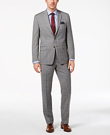 Lauren Ralph Lauren Men's Classic-Fit Ultra-Flex Stretch Light Gray Glen Plaid Suit