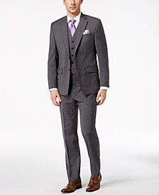 Lauren Ralph Lauren Men's Classic-Fit Ultra-Flex Stretch Gray Pinstripe Vested Suit