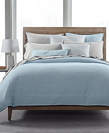 CLOSEOUT! Hotel Collection 525-Thread Count Yarn Dyed Full/Queen Duvet Cover, Created for Macy's