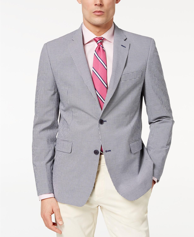 Tommy Hilfiger Modern-Fit TH Flex Stretch Mini-Check Sport Men's Coat