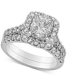 Diamond Halo Bridal Set (2-1/2 ct. t.w.) in 14k White Gold