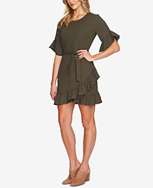 1.STATE Ruffled Mini Dress