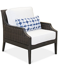 CLOSEOUT! Fiji Aluminum Outdoor Accent Club Chair with Sunbrella®  Cushion, Created for Macy's
