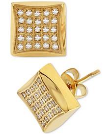 Diamond Square Cluster Stud Earrings (1/4 ct. t.w.)