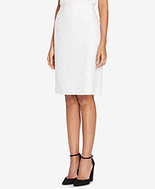Tahari ASL Bouclé Pencil Skirt