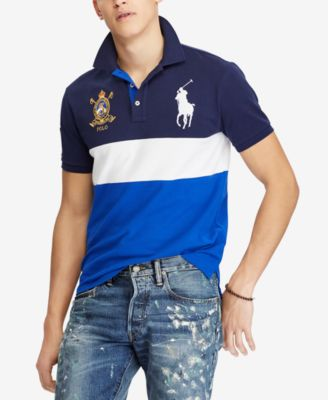 Polo Ralph Lauren Men/'s Big Pony Polo Shirt Custom Fit Mesh Cotton Short Sleeve