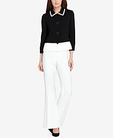 Tahari ASL Colorblocked Flared Pantsuit