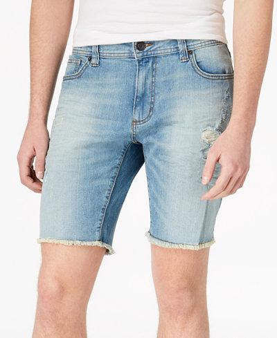 American Rag Men's Ripped Cut Off Denim Shorts, Created for Macy's