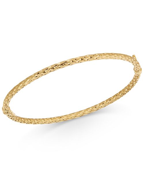 Macy's Textured Bangle Bracelet in 14k Gold