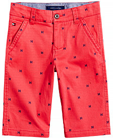 Tommy Hilfiger Logo-Print Shorts, Little Boys