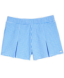 Tommy Hilfiger Gingham Pleated Ponté-Knit Shorts, Big Girls (7-16)