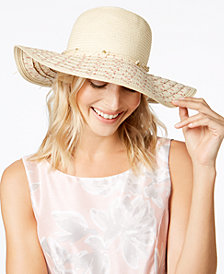 I.N.C. Beaded Floppy Hat, Created for Macy's