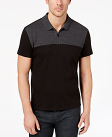 Alfani Men's Textured Colorblocked Polo, Created for Macy's
