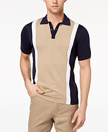 Ryan Seacrest Distinction™ Men's Slim Fit Colorblock Sweater Polo, Created for Macy's