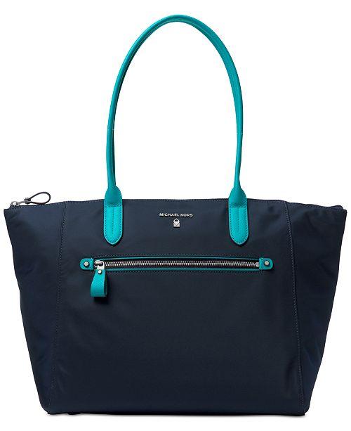 8b22fae26313 Michael Kors Kelsey Large Top-Zip Tote   Reviews - Handbags ...