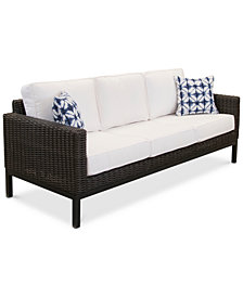 CLOSEOUT! Fiji Aluminum Outdoor Sofa with Sunbrella® Cushion, Created for Macy's