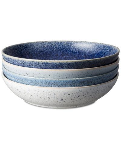 Denby Studio Craft Blue 4-Pc. Pasta Bowl Set