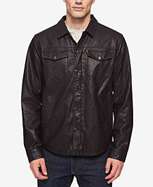 Levi's® Men's Lightweight Faux Leather Shirt Jacket