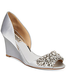 Badgley Mischka Hardy Evening Wedge Sandals