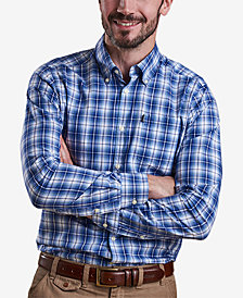 Barbour Men's Leo Medium Blue Plaid Shirt